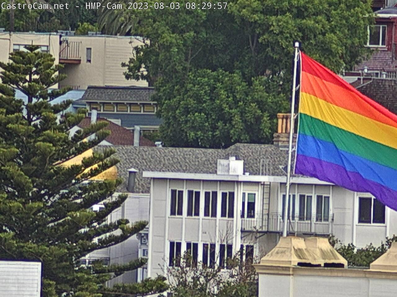 Gay Pride Flag at Harvey Milk Plaza